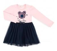 Плаття Breeze з ведмедиком (11009-116G-pink)