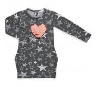 Плаття Breeze із зірочками (11580-134G-gray)