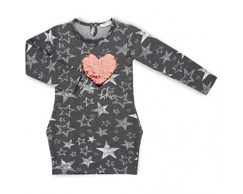 Плаття Breeze із зірочками (11580-152G-gray)