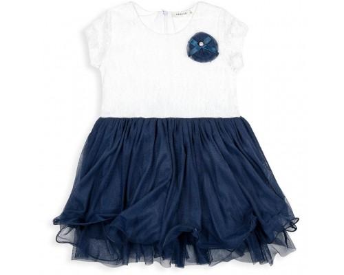 Плаття Breeze з фатіновой спідницею і квіткою (10671-104G-blue)