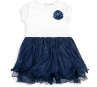 Плаття Breeze з фатіновой спідницею і квіткою (10671-116G-blue)