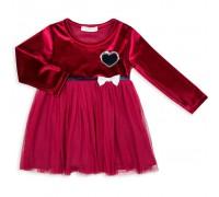 Плаття Breeze бархатное (10381-110G-red)