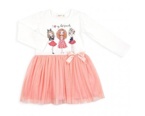 Плаття Breeze з дівчатками (10827-104G-cream)
