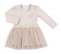 Плаття Breeze с фатиновой юбкой и цветочками (12303-86G-beige)