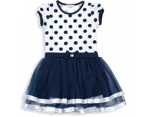 Плаття Breeze в горошок (12481-110G-blue)