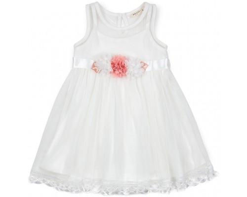 Плаття Breeze з квіточками і мереживом (12531-110G-cream)