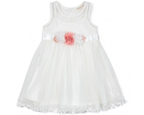 Плаття Breeze з квіточками і мереживом (12531-128G-cream)
