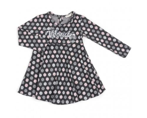 Плаття Breeze в горошок (13073-116G-gray)