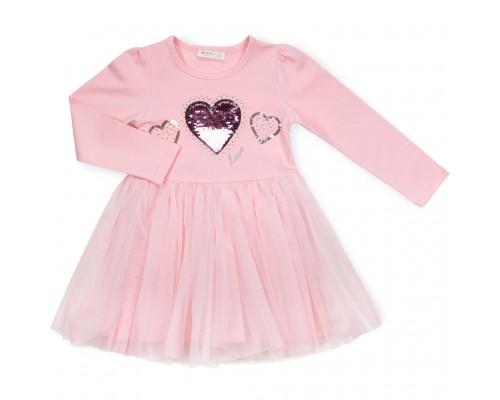Плаття Breeze з сердечком (13647-116G-pink)