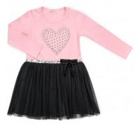 Плаття Breeze з сердечком (13243-110G-pink)
