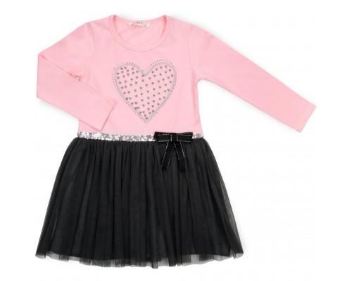 Плаття Breeze з сердечком (13243-134G-pink)