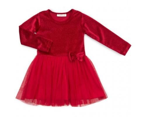 Плаття Breeze велюровое (12674-98G-red)