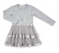 Плаття Breeze з серцями (12687-134G-gray)