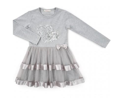 Плаття Breeze з серцями (12687-140G-gray)