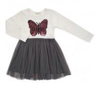 Плаття Breeze з метеликом (14201-152G-cream)