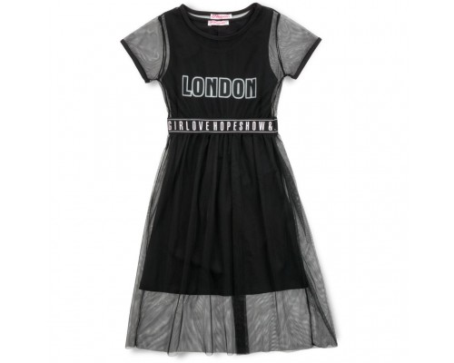 Плаття Monili з сіткою (9016-164G-black)