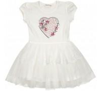 Плаття Breeze з серцем (14104-104G-cream)