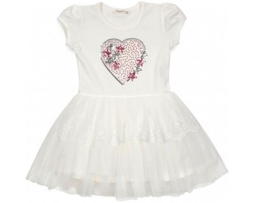 Плаття Breeze з серцем (14104-128G-cream)