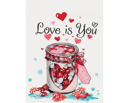 "Картина. Натюрморт ""Love is you"" 30*40см * KHO5526"
