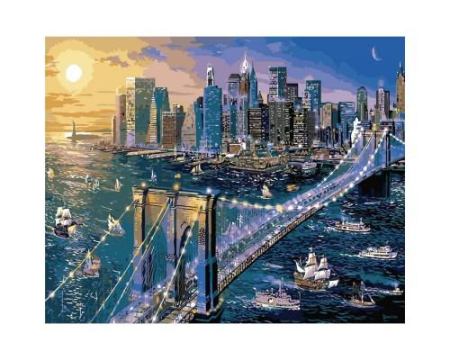 "Картина. Міський пейзаж ""Велике Яблуко"" 40*50см KHO2170"