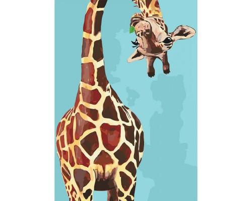 """Картина. Тварини, птахи """"Веселий жираф"""" 35*50см * KHO4061"""