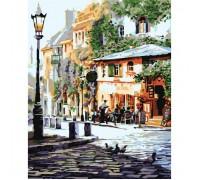"""Картина. Міський пейзаж """"Затишне кафе"""" 40*50см KHO2150"""