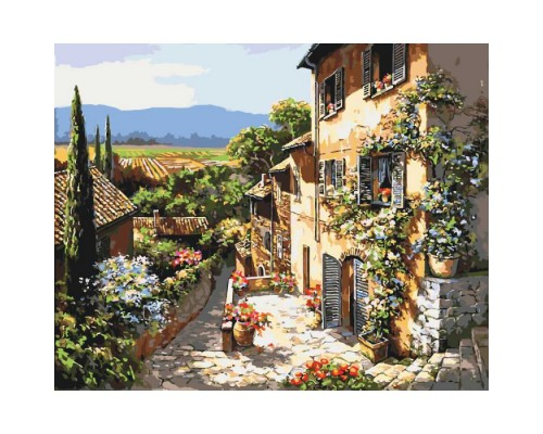 """Картина. Сільський пейзаж """"Пейзажі Тоскани"""" 40*50см KHO2232"""