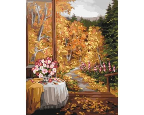 """Картина. Сільський пейзаж """"Чарівний запах осені"""" 40*50см KHO2242"""