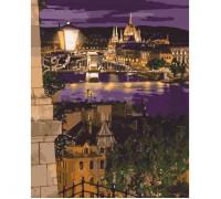 """Картина. Міський пейзаж """"Магічні фарби Будапешта"""" 40*50см KHO3534"""
