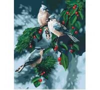 """Картина. Тварини, птахи """"Зимові птиці"""" 40*50см KHO4081"""