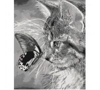 """Картина. Тварини, птахи """"Кошеня і метелик"""" 40х50см. * KHO2499"""