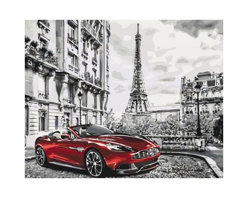 """Картина. Міський пейзаж """"Ранок в Парижі"""" 40х50см * KHO3514"""