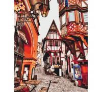 """Картина. Міський пейзаж """"Яскраві вулиці Німеччини"""" 40*50см KHO3539"""