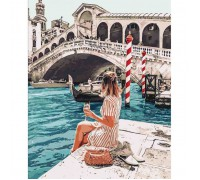 "Картина. Люди ""Закохана в Венецію"" 40*50см KHO4526"