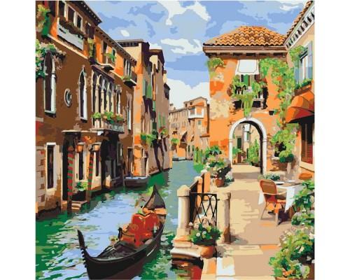 """Картина. Міський пейзаж """"Венеціанський ранок"""" 40*40см KHO2161"""