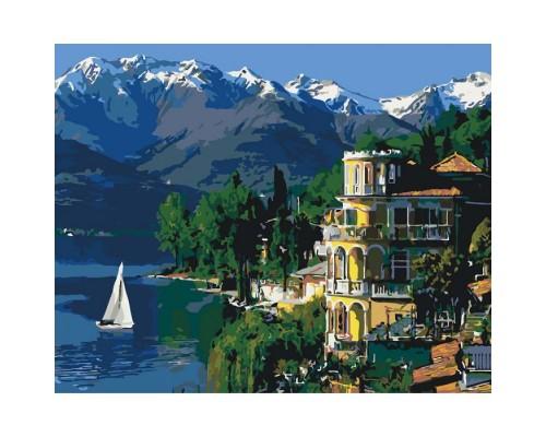 """Картина. Міський пейзаж """"Вдохновляющая Італія"""" 40*50см KHO3511"""
