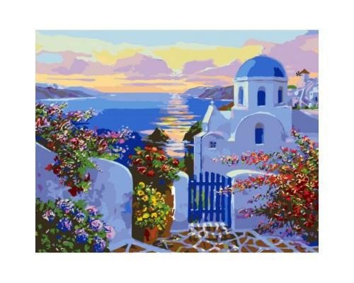 """Картина. Міський пейзаж """"У самого моря ..."""" 40*50см. KHO2162"""