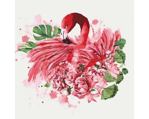 """Картина. Тварини, птахи """"Граціозний фламінго"""" 40*40см KHO4042"""