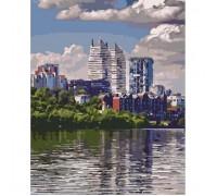 """Картина. Міський пейзаж """"Улюблене місто"""" 40*50см KHO2186"""