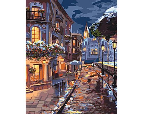 """Картина. Міський пейзаж """"Зимове містечко"""" 40*50см KHO3542"""