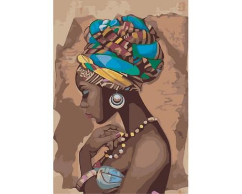 """Картина. Люди """"Перлина Африки"""" 35*50см * KHO2625"""