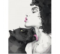 "Картина. Люди ""Поцілунок пантери"" 40*50см * KHO4506"