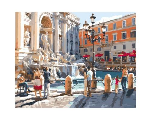 """Картина. Міський пейзаж """"Європейські канікули"""" 40*50см KHO2152"""