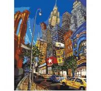 """Картина. Міський пейзаж """"Вулицями Нью-Йорка"""" 40х50см KHO2172"""
