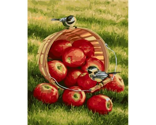 """Картина. Тварини, птахи """"Хрусткі яблучка"""" 40х50см KHO2469"""