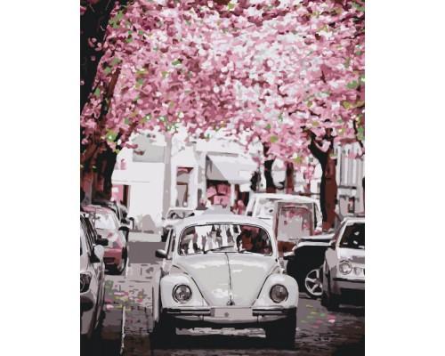 """Картина. Міський пейзаж """"Volkswagen Beetle"""" 40*50см * KHO3521"""