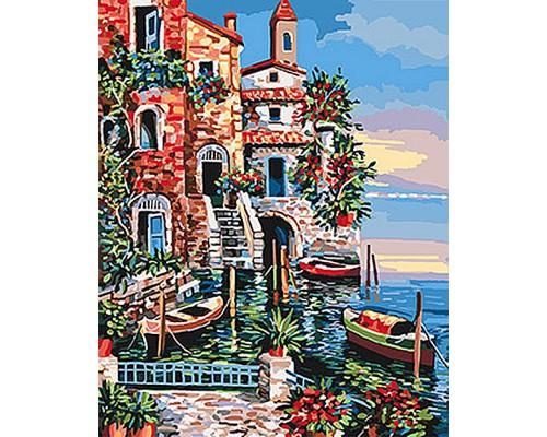 """Картина. Морський пейзаж """"Південні кольори"""" 40*50см KHO2735"""