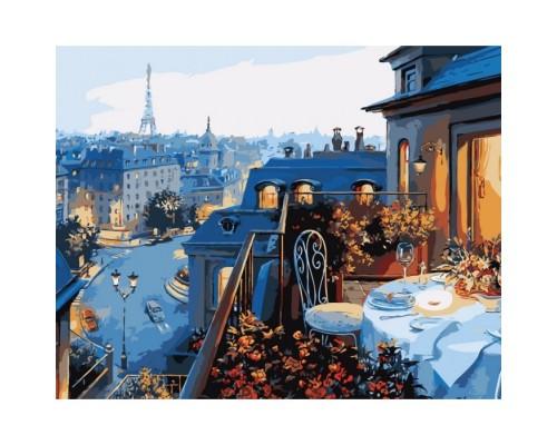 """Картина. Міський пейзаж """"Вид на Париж"""" 40х50 KHO1107"""