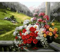 """Картина. Brushme """"Букети на вікні"""" GX9500"""
