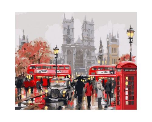 """Картина. Міський пейзаж """"Ранок в Лондоні"""" 40х50см KHO2149"""